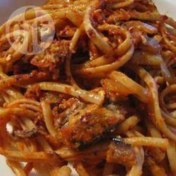 Pasta con sardinas @ allrecipes.com.mx