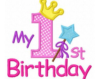 Instant Download My 1st birthday Applique Machine Embroidery Design NO:1300