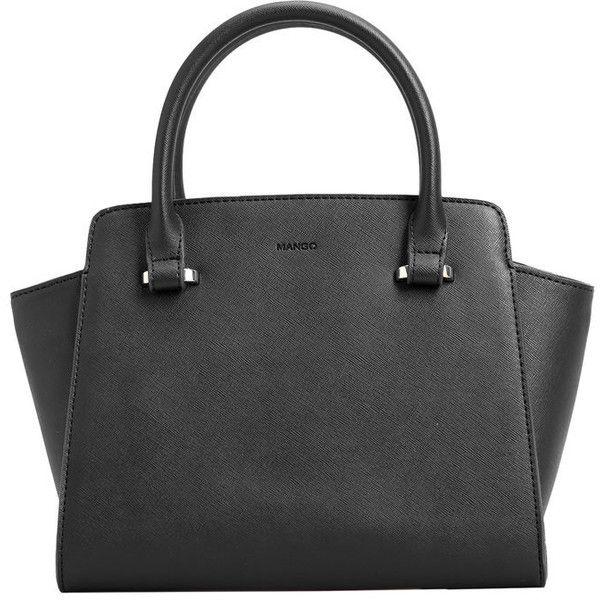 Pebbled Tote Bag (2.685 RUB) ❤ liked on Polyvore featuring bags, handbags, tote bags, pebbled-leather handbags, mango purse, mango tote bag, handbags totes and zipper purse