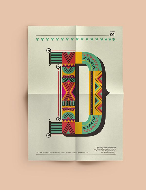 Decorative Type on Behance. I'd love to make this into an embroidery!
