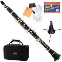 $49 - Mendini MCT-E+SD+PB Black Ebonite B Flat Clarinet