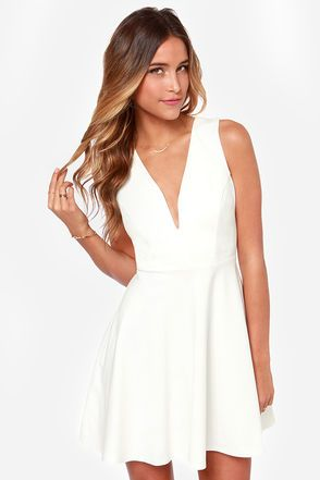 Lulu's- A great bridal shower dress! #stylehunters Great site for white dresses! (showers and rehearsal dinners)