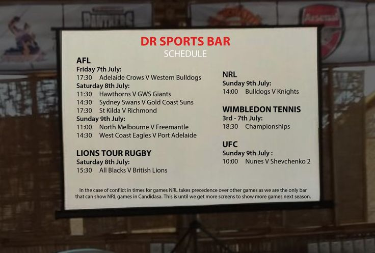 This week #AFL #NRL #WIMBLEDONTENNIS #LIONS TOUR RUGBY and #UFC schedule at DR Sports Bar www.diningroomcandidasa.com  #bali #sportsbar #sports #candidasa #eastbali #fans #rugby #tennis