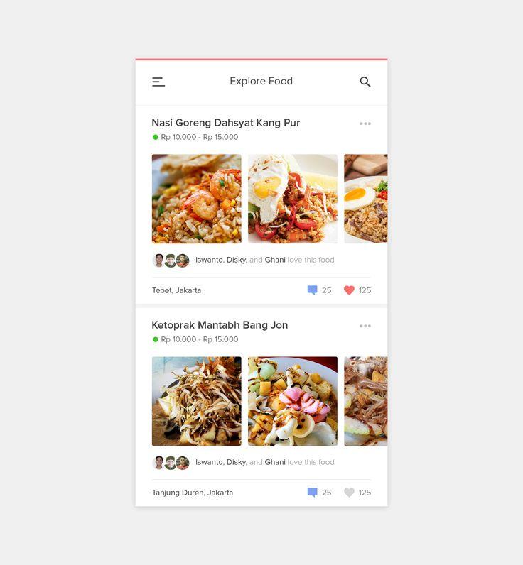 71 best ui recipe images on pinterest user interface app food app app by dwinawan hariwijaya forumfinder Images