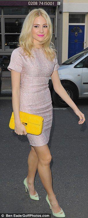 Pixie Lott wore a Dolce & Gabbana dress
