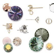 Easy earrings....button earrings