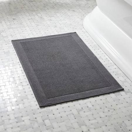 Best Grey Bath Mat Ideas On Pinterest Pink Showers Wash - Black chenille bath rug for bathroom decorating ideas
