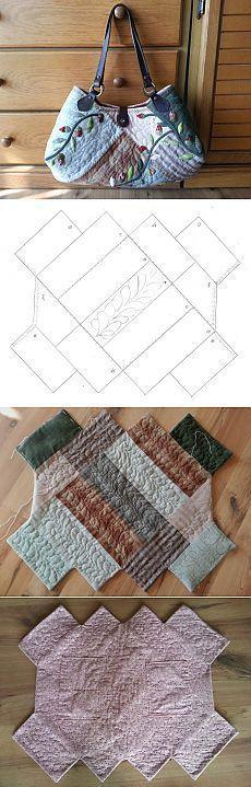 Quilt Bag tutorial. Bag patchwork-quilt ~ HandMadiya.com   сумки