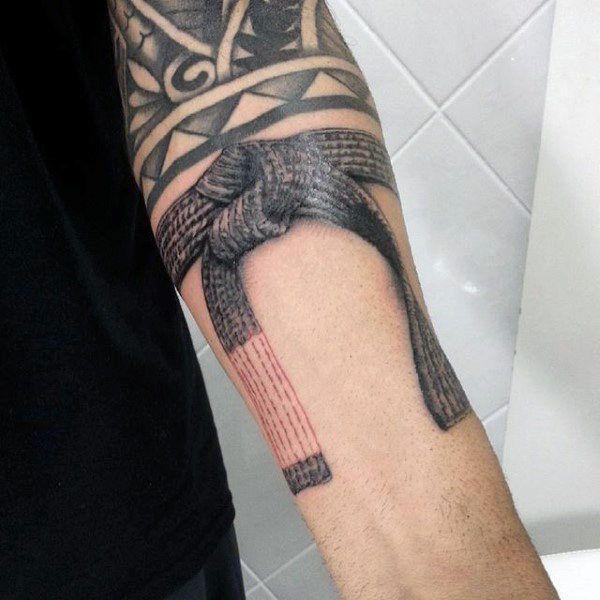 70 Jiu Jitsu Tattoos For Men Masculine Martial Art Design Ideas Jiu Jitsu Tattoo Martial Arts Tattoos Tattoos For Guys