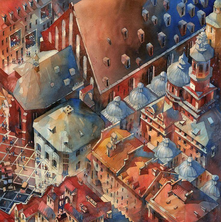 Watercolor by Tytus Brzozowski