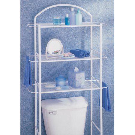 Homz Bathroom Etagere, Chrome, Silver