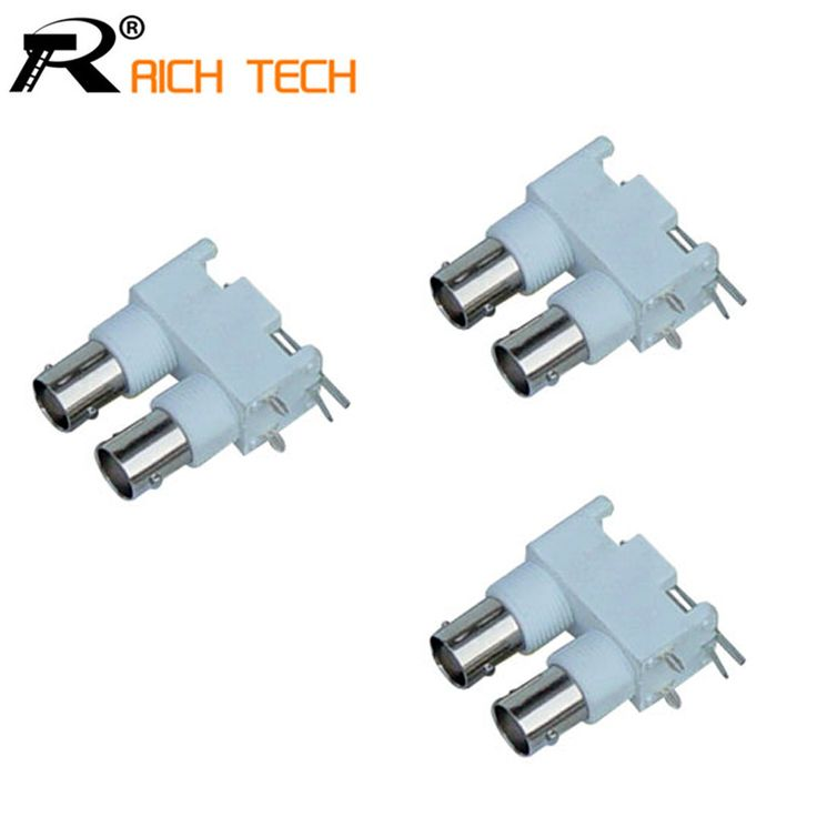 $4.24 (Buy here: https://alitems.com/g/1e8d114494ebda23ff8b16525dc3e8/?i=5&ulp=https%3A%2F%2Fwww.aliexpress.com%2Fitem%2FDOUBLE-BNC-FEMALE-RIGHT-ANGLE-PANEL-MOUNT-PLASTIC-BNC-connector-White-PC-Board-PCB-Mount-Right%2F32735990539.html ) DOUBLE BNC FEMALE RIGHT ANGLE PANEL MOUNT PLASTIC BNC connector White PC Board PCB Mount Right Angle dual BNC Female Connector for just $4.24