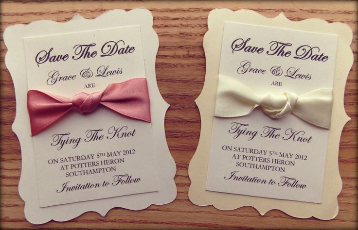Save The Date 'Tie the Knot' ribbon wedding by FromLeoniWithLove, $2.22