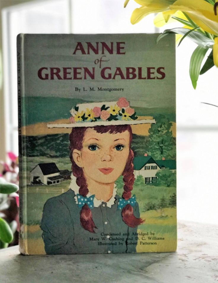Anne Of Green Gables L M Montgomery Children S Classic Storybook 1960 S Decorative Book Girl S Room Old Book Vintage Book Green Book Anne Of Green Gables Book Decor Anne Of Green