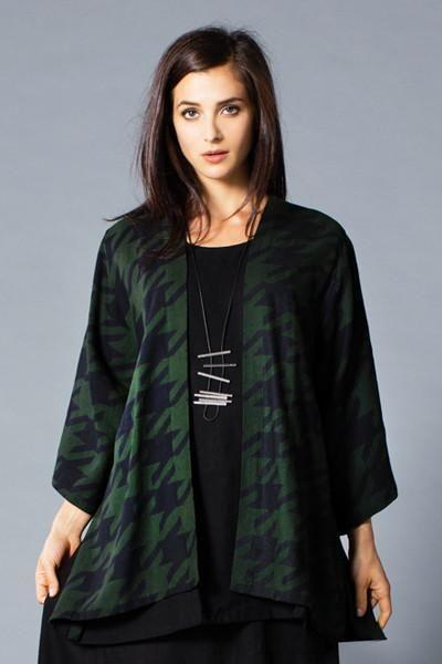 Короткая куртка из кимоно в хаундстуте Рома