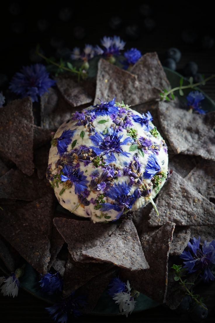 An Ode To Evening Wandering: Wild Herb Blueberry Goat Cheese