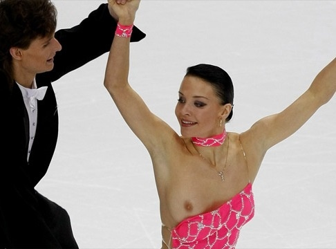Ice skaters boob