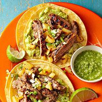 Tacos al Pastor (pork tacos, but I totally use organic ground beef). A ...