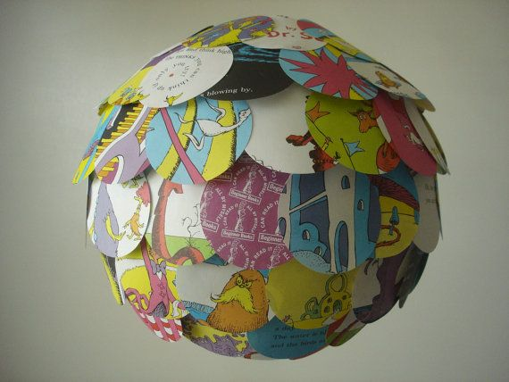 Kids recycled book hanging chinese lantern up cycle mobile for Recycled paper lantern
