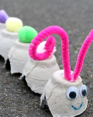 Simple Caterpillar Egg Carton Craft for Kids from Creative Green Living at B-InspiredMama.com