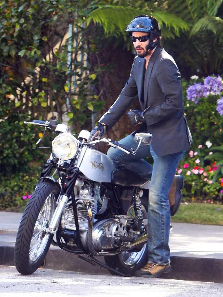 https://flic.kr/p/VeUx6W | Candids2013_CA | Keanu Reeves out for a cruise on his motorcycle in Hollywood, California on May 9, 2013