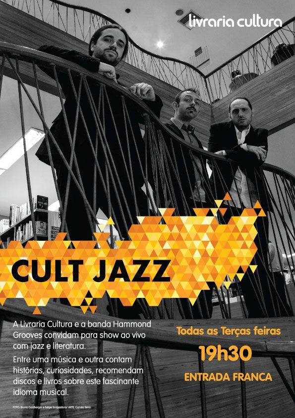 Cartaz: Hammond Grooves trabalho realizado para Livraria Cultura.