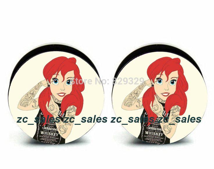 Wholesale 60pcs Ariel logo plug acrylic screw fit ear plug flesh tunnel ear gauges mix sizes 6mm-25mm A0206