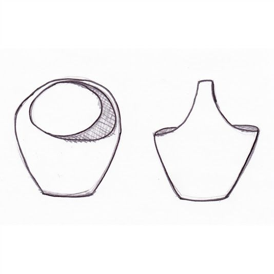 Ceramic vase with handle - sketch