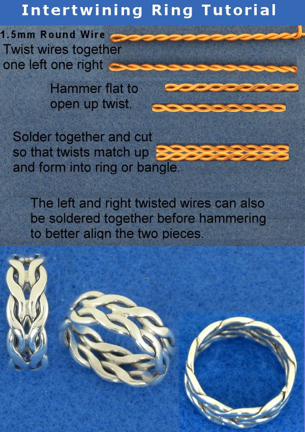 Sooo beautiful and clever !!! :) Intertwining Ring Tutorial by *harlewood on deviantART - Anello intrecciato