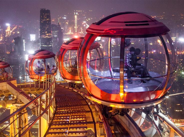 In China, rotating pods atop Guangzhou's Canton Tower overlook one of the world's most populous cities.Photograph by Paul Langrock, Zenit/laif/Redux