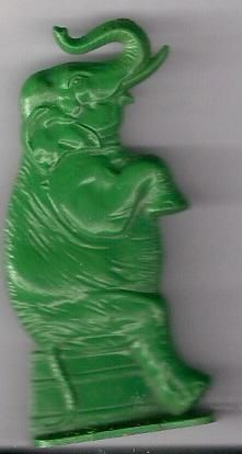 icollect247.com Online Vintage Antiques and Collectables - 1940s Cracker Jack Prize Plastic Elephant Toy