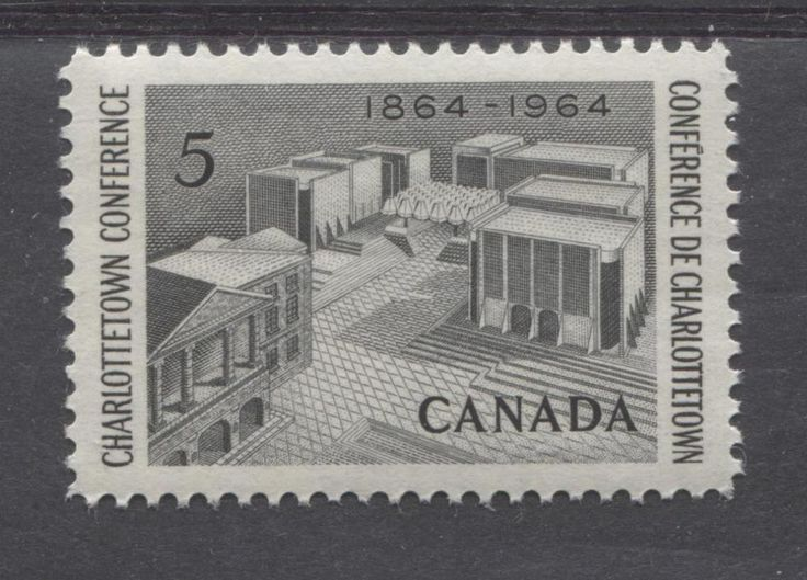 The Charlottetown Conference was the meeting held in 1864 between the Fathers of Confederation that was instrumental in the formation of the country in 1867. This stamp depicts the 100th anniversary of that historic meeting.