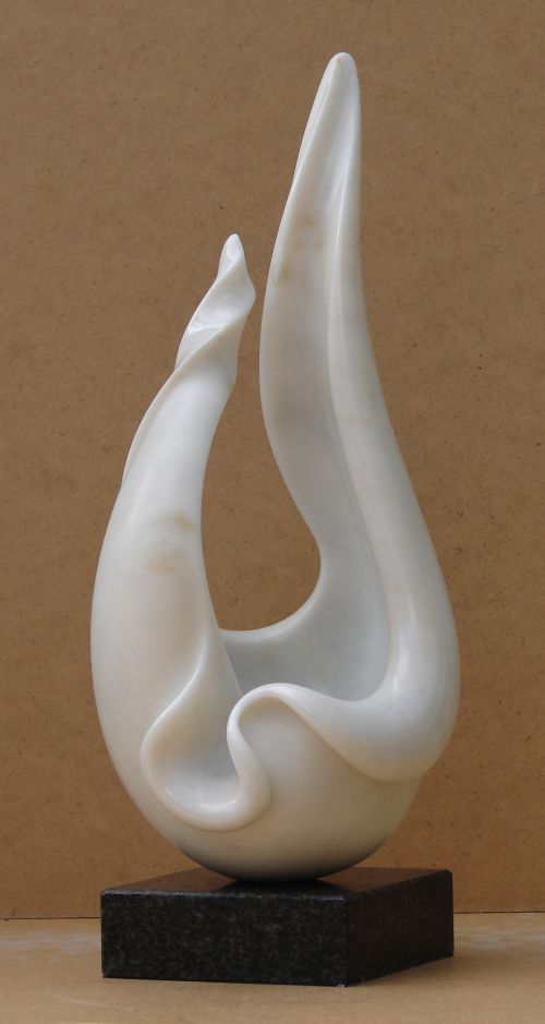 Marble Interior Design sculpture by artist Charles Westgarth titled: 'Shell Form (Abstract Marble Natural Flpwer Statue)' £3000 #sculpture #art