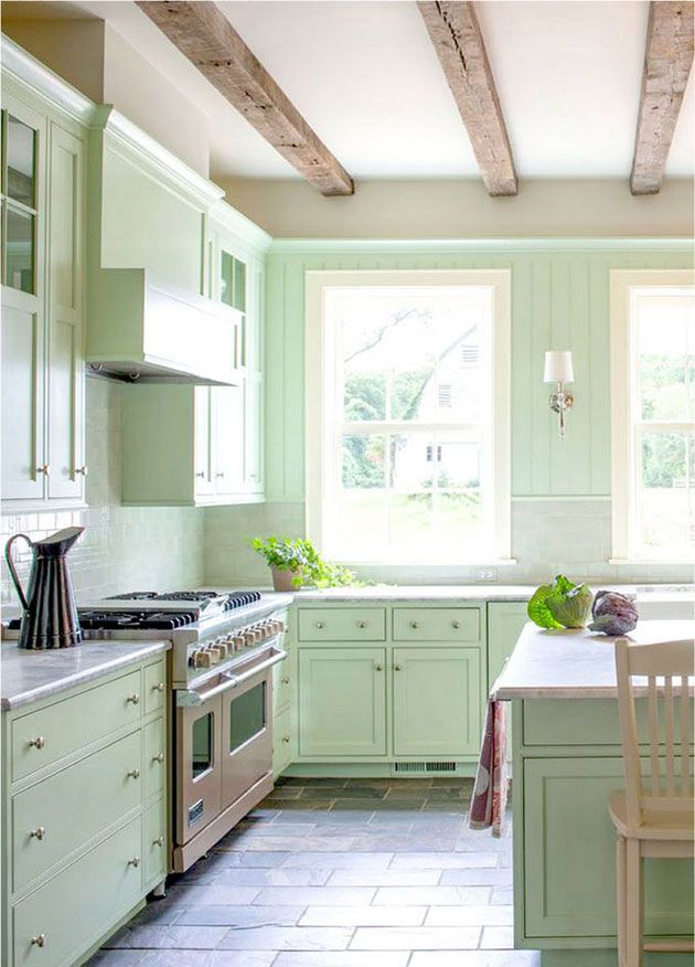 17 mejores ideas sobre muebles pintados de verde en for Armarios de cocina antiguos