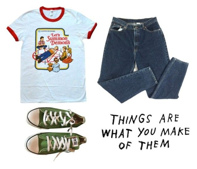 """""""Summoning demons"""" by anne-the-alien ❤ liked on Polyvore featuring Converse"""