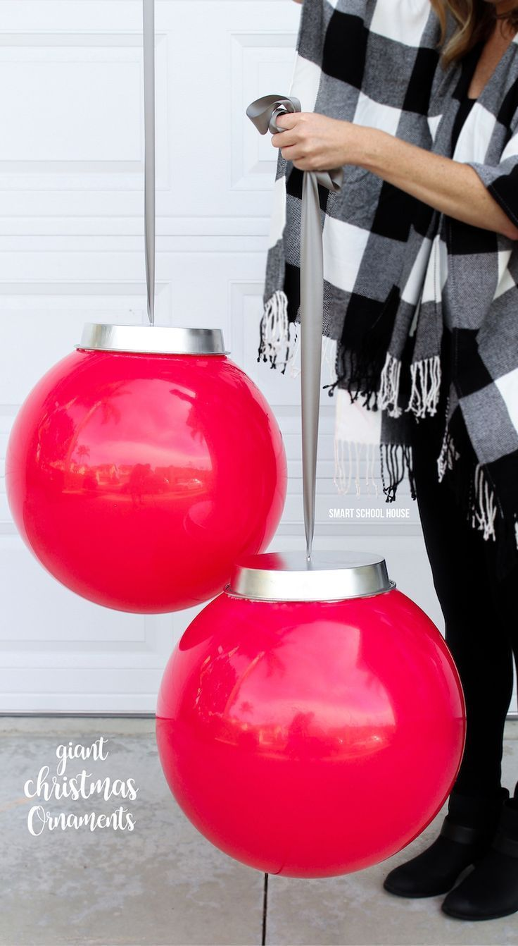 Creative outdoor christmas decorations - Kids Play Balls And A Cake Pan From The Dollar Store Bring In The Holidays Christmas Yardchristmas Ribbonoutdoor