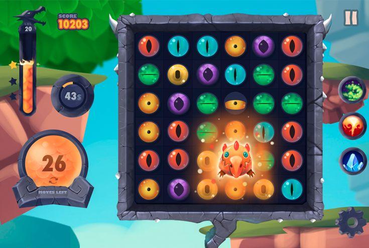 Dragon Eye - Jewels Game on Behance