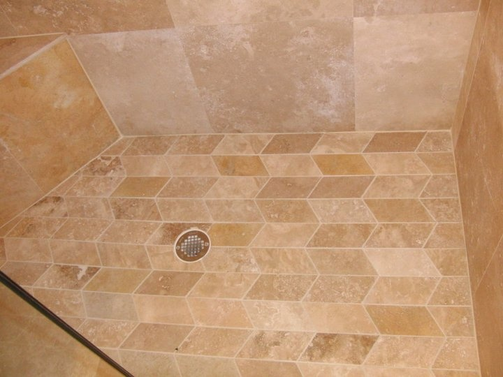 Nice Travertine Marble Shower Floor