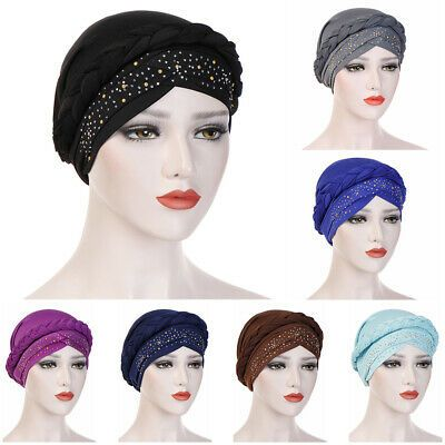 Hijab Hair Loss Head Scarf Head Wraps Muslim Turban Hat Braids Cancer Chemo Hat …   – Hats