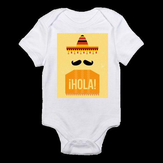 Hola bodysuit sombrero and poncho bodysuit Cinco de Mayo