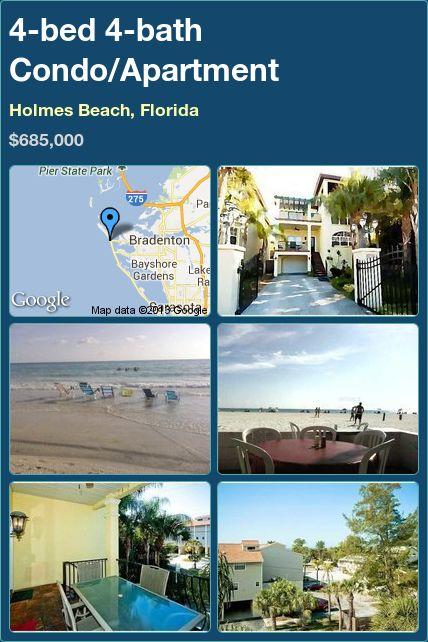 4-bed 4-bath Condo/Apartment in Holmes Beach, Florida ►$685,000 #PropertyForSale #RealEstate #Florida http://florida-magic.com/properties/4267-condo-apartment-for-sale-in-holmes-beach-florida-with-4-bedroom-4-bathroom