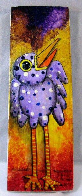 Pajarro    Whimsical Bird Art by PhantomWhispers on Etsy ♥♥