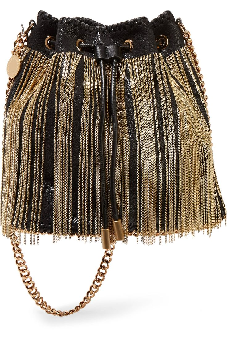 Shop on-sale Stella McCartney Fringed faux brushed-leather bucket bag. Browse other discount designer Shoulder Bags & more on The Most Fashionable Fashion Outlet, THE OUTNET.COM