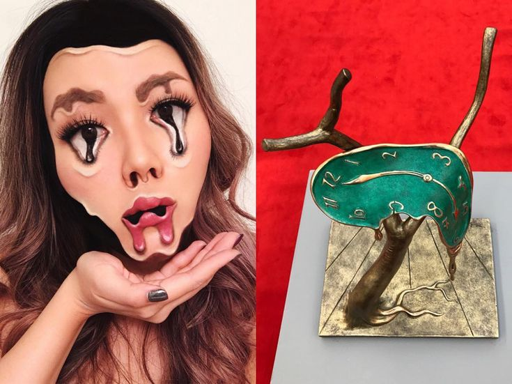 optische täuschung make up halloween fasching kunst inspiration #halloween #fasching #makeup