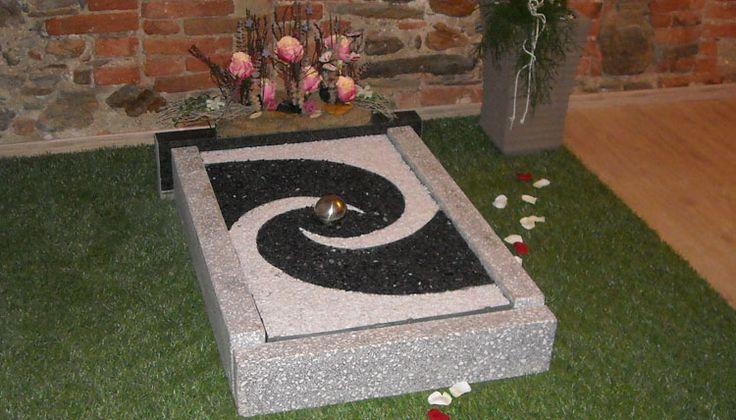schön anzuschauen: grabplatten aus kies von www.pietsch, Garten und Bauen