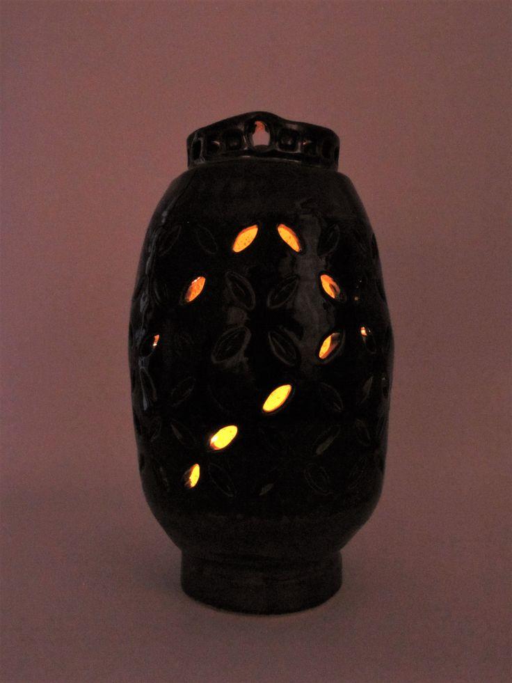 Krásná dekorační váza Océane, která může být i lampou. Originální ruční práce, efektní glazury.