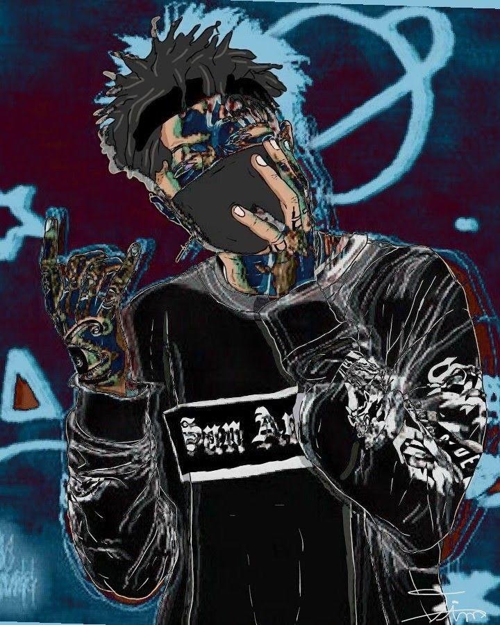 Scarlxrd Character art, Rapper art, Marvel paintings