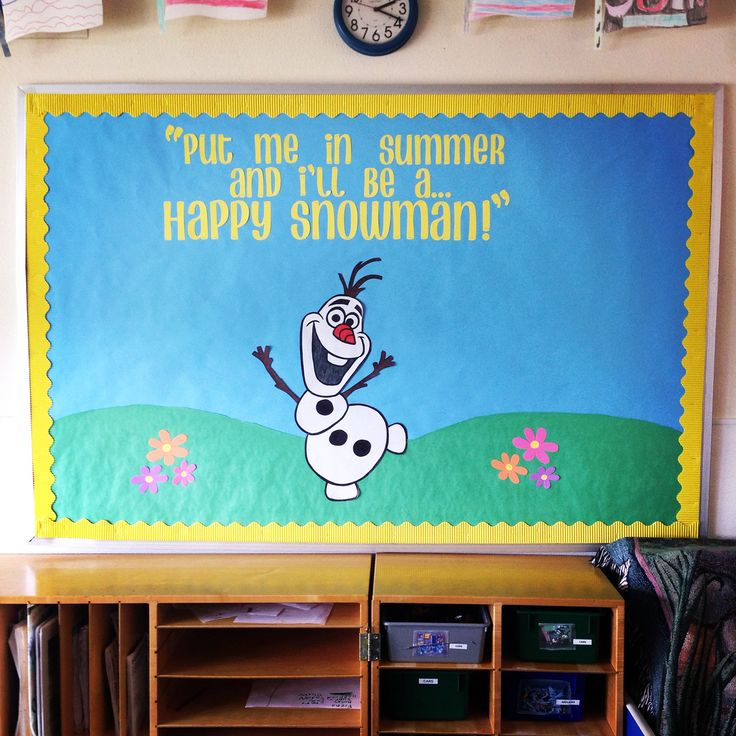 Frozen Bulletin Board with Olaf! The kids definitely love this one!