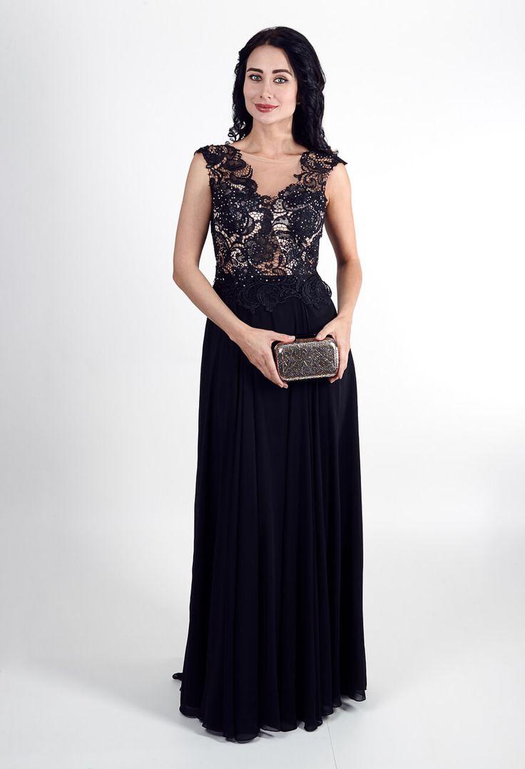 Красивые длинные шифоновые платья черное | Beautiful long chiffon dress black
