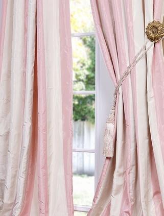 Beautiful pink curtains